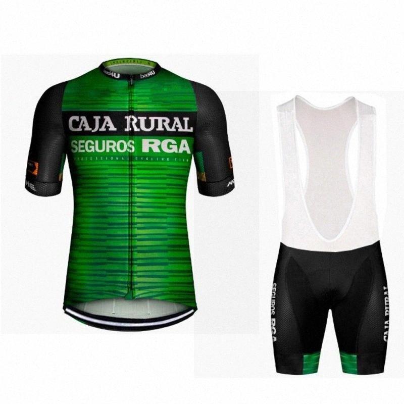 2020 2020 Pro Team Каха Rural Италия Мощность диапазона задействуя Джерси Kit Летний Дышащие Цикл Ткань MTB Ropa Ciclismo велосипедов Майо гель SU5A #