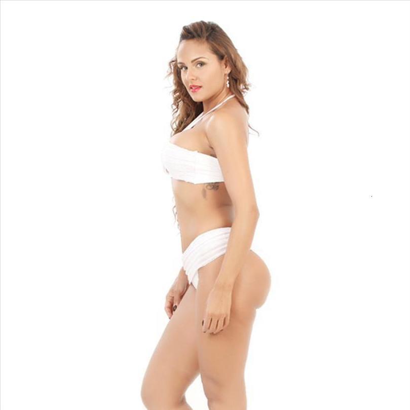 Womens plissadas Bikini Push Up Biquinis Swimwear Swimsuit Beachwear fato de banho Brasileiro Biquinis Maillot de bain Swim verão