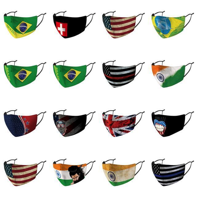 Cubierta Packaged la mitad Mejor Bandera de mascarillas de fábrica barato Dicount Bandera Mo nariz precios de venta Individualmente Australia Máscaras URSS URSS NYupu