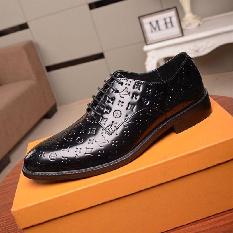 2020 Nova lista Shoes Mens Vestido, Mens Casual qualidade Top Shoes Casual famoso designer de moda de luxo Vestido Mens sapatos tamanho 38-45 00033