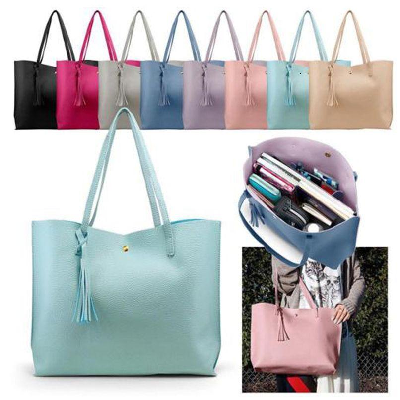 Adiputent Womens Fashion 2020 Borsa a tracolla manico in pelle Borsa Assel Femminile Big Tote casual 7 colori Lady borsa grande capacità
