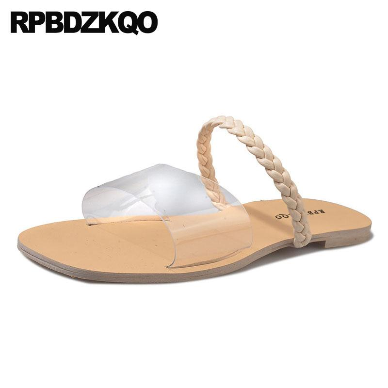 sandals chinese plus size big pvc transparent clear korean women slippers designer summer slides wide fit shoes ladies 2020 2020