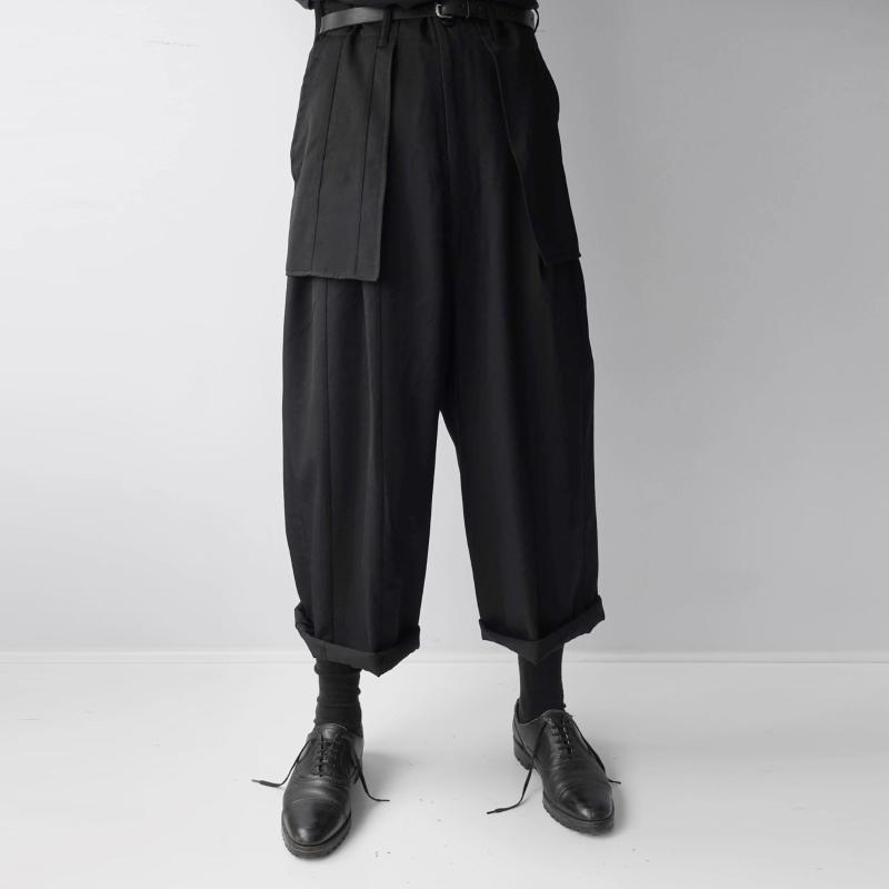 S-7XL 2020 !! casual hommes pantalons jambes larges et culottes sont super lâche et noir avec de grandes poches