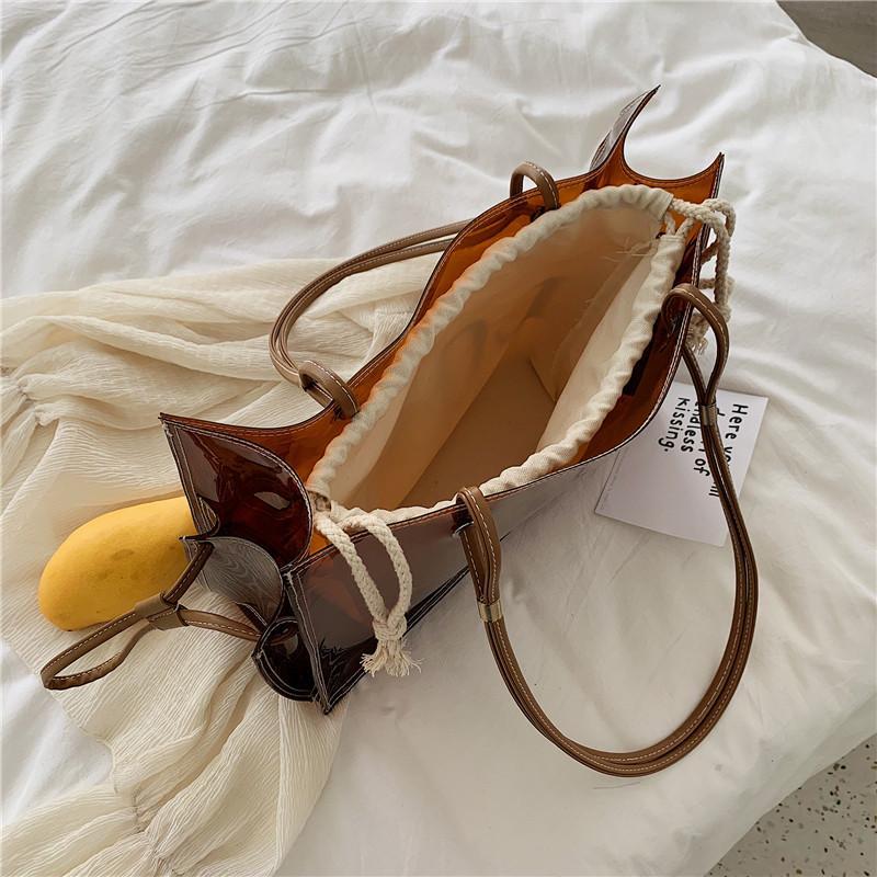 New-Frauen Große Klar Tragetasche für Damen Luxus-Handtaschen Designer Transparent Hand