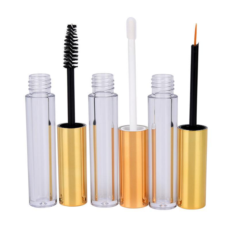 Hot Wimper Tube + 1x Eyeliner Tube + 1x Lip Gloss leere kosmetische Mit Wand Trichter Gummieinsätze DIY Container