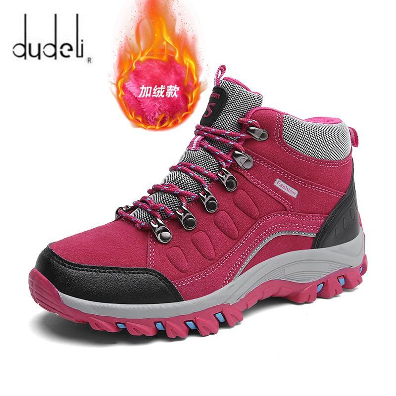 zapatos de trekking impermeables al aire libre de la mujer botas de trekking escalada treking mujeres de la montaña de seguimiento alza botas profesionales senderismo