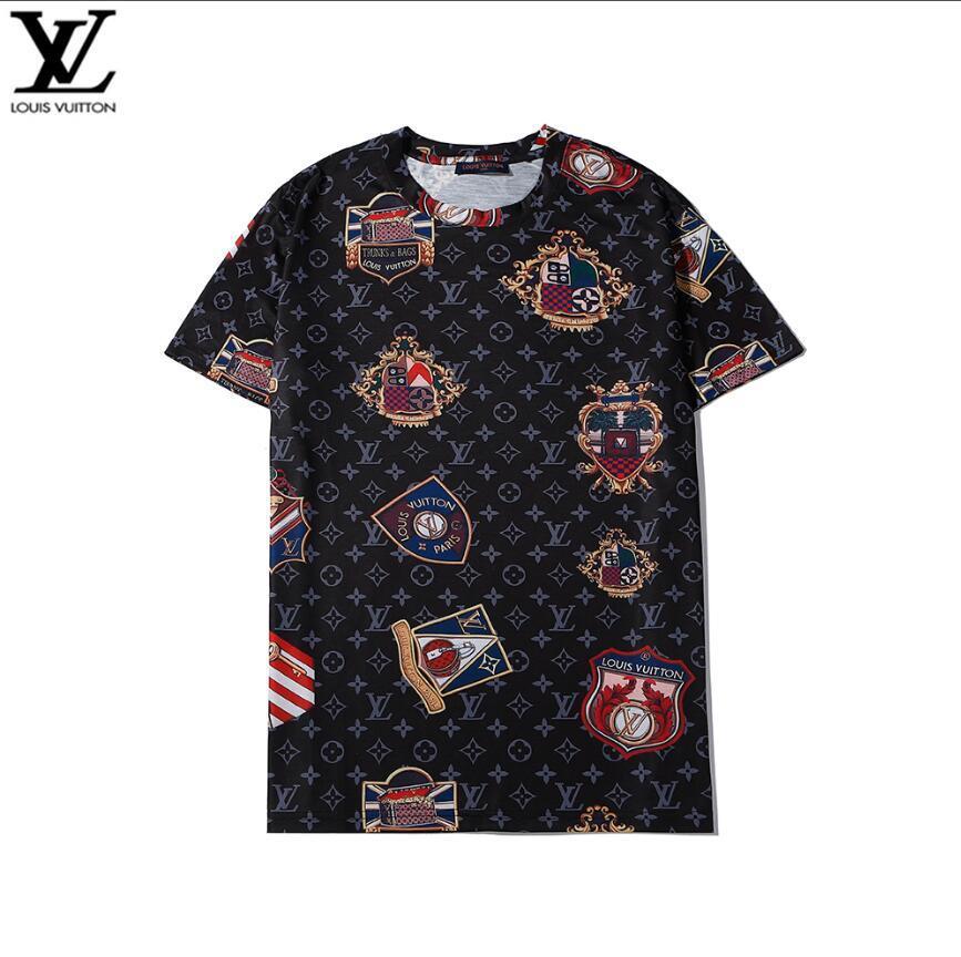 2020 NEU Damen Herren Designer-T-Shirts Mode Short Sleeve Luxus-Designer-T-Shirt Sommer-Männer-T-Shirt T-Tops Paare passende Kleidung L-V47