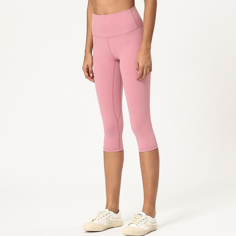 طماق Yogaworld المرأة اليوغا الجري ضيق الرياضة في الهواء الطلق مستقيم الساق نحيل سليم صالح croppedpants الأسود الوردي