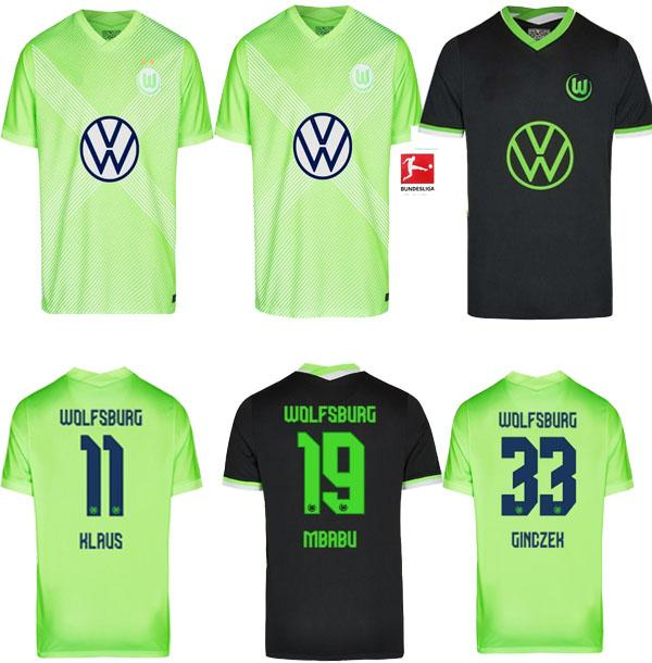 20 21 VFL Wolfsburg Soccer Jersey Weghorst Arnold Home 2020 2021 Malli Brekalo Mehmedi Gincekek Guilavogui Xaver Steffen Футбольная футболка