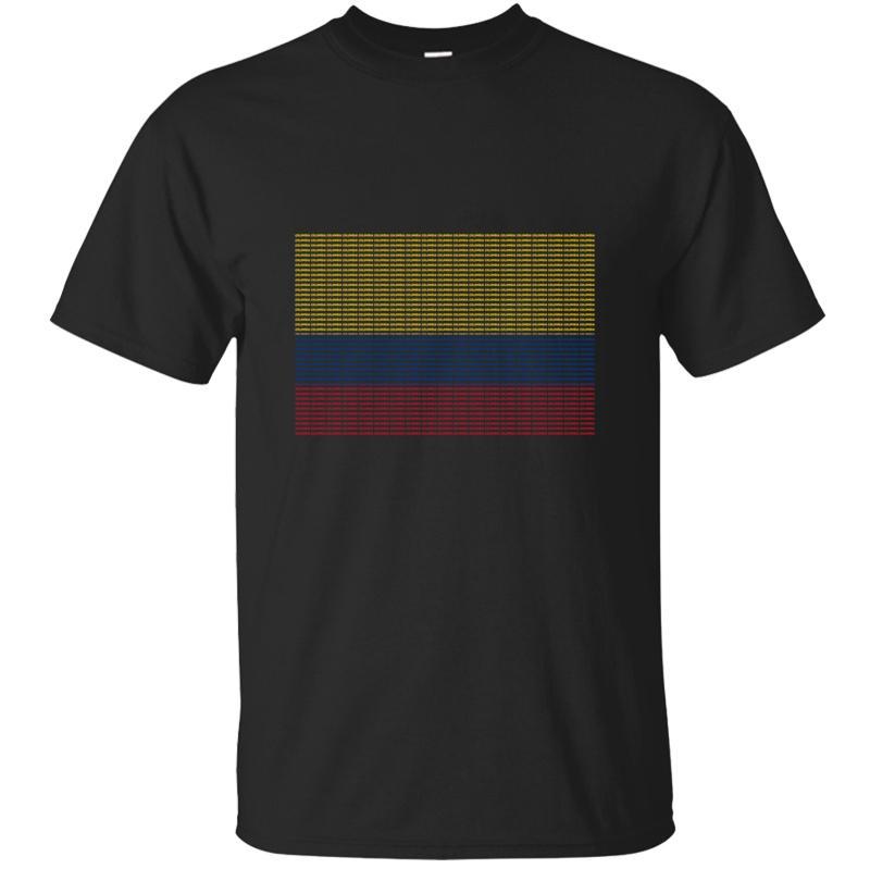 Verano de la bandera de Colombia transpirable camiseta para los hombres 2019 Único Hombres camiseta Interesante Antiarrugas Hiphop Tops gráfico