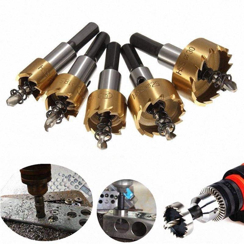 Le plus récent 5pcs de Drill en acier rapide Set Meche Cutter pour le perçage cylindrique Scie - or 1Ezk #