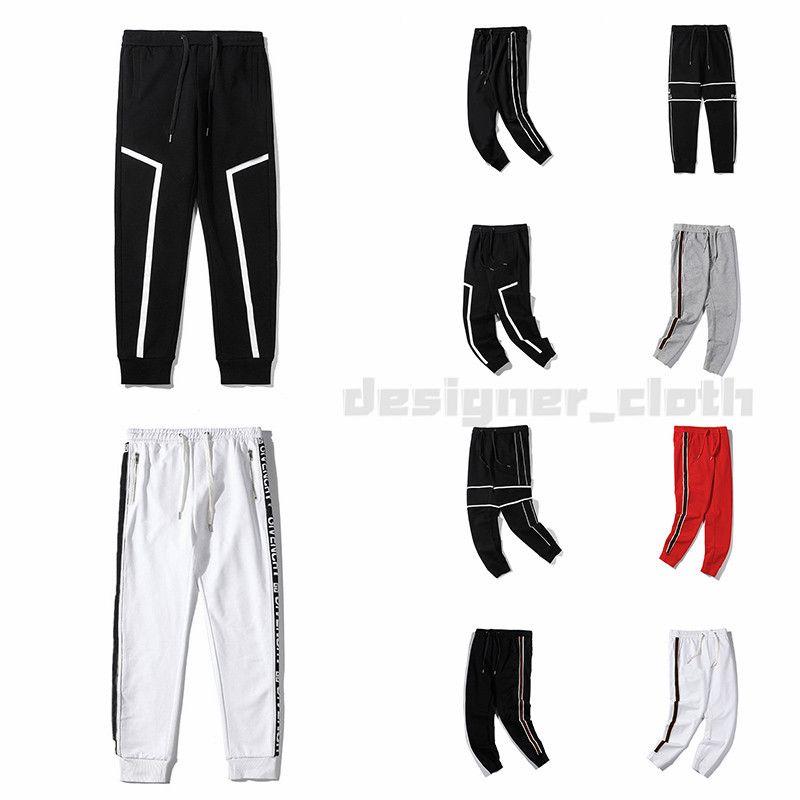 Nuove 20ss Designer pantaloni superiore Mens di modo di qualità bollati sport Pant collaterali Stripe Pantaloni sportivi jogging Casual Streetwear Pantaloni Abbigliamento