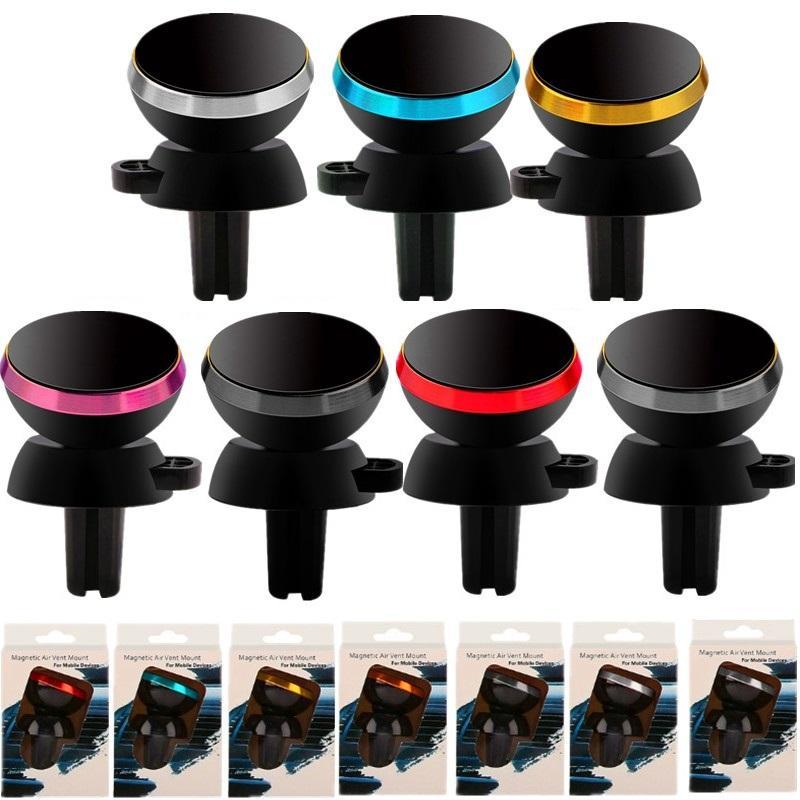 자동차 전화 홀더 자석 공기 통풍구 마운트 모바일 스탠드 아이폰 7 8 X Samsung GPS PC와 소매 상자