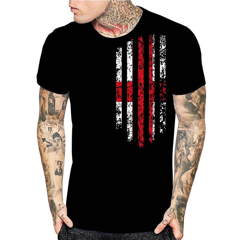 Inghilterra vendemmia UK Flag Stampa Mens nero Regno Unito T-shirt di moda grafica Camicie regalo di Natale formato dell'Asia S-5XL