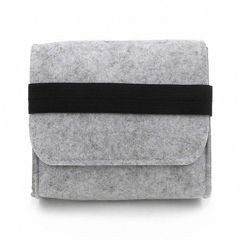 New Cheap Felt Storage Bag Mini Power Bank Case Travel Organizer For Digital Accessories Portable Gadget Pocket Pouch aNWt#