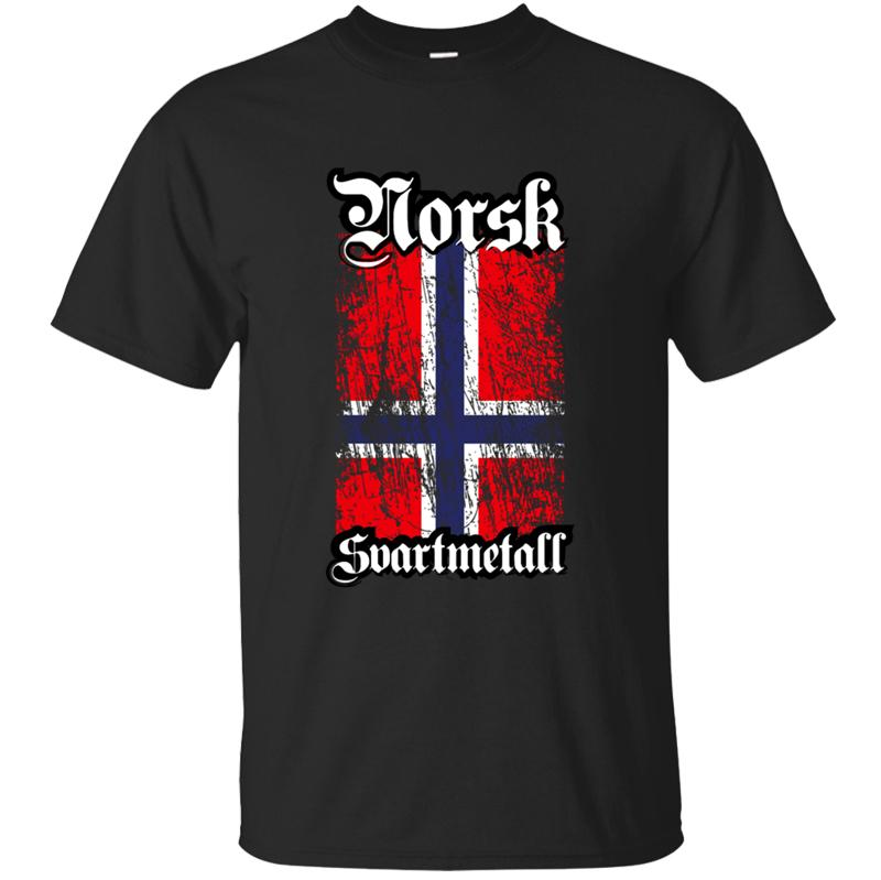 Строительство Norwegian Black Metal Norsk Svartmetall Tshirt Man 2020 Хлопок Solid Color Tee Shirt Новизна Tee Tops Comics