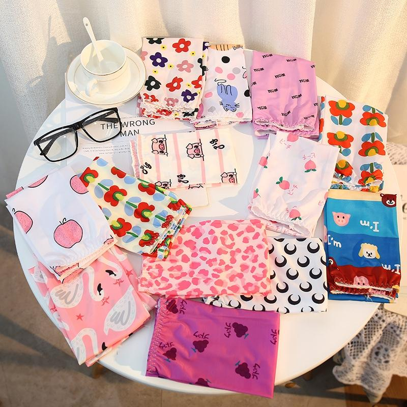 Summer sun protection elegant style women's silk long ins style girl cartoon new ice sleeve online red ice sleeve