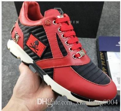 SS19 Nuovo arrivano i pattini della scarpa da tennis-Platform Mens SS1798 Top Stars strato di cuoio di lusso di Rivet Casual Scarpe da uomo EUR38-45 M05