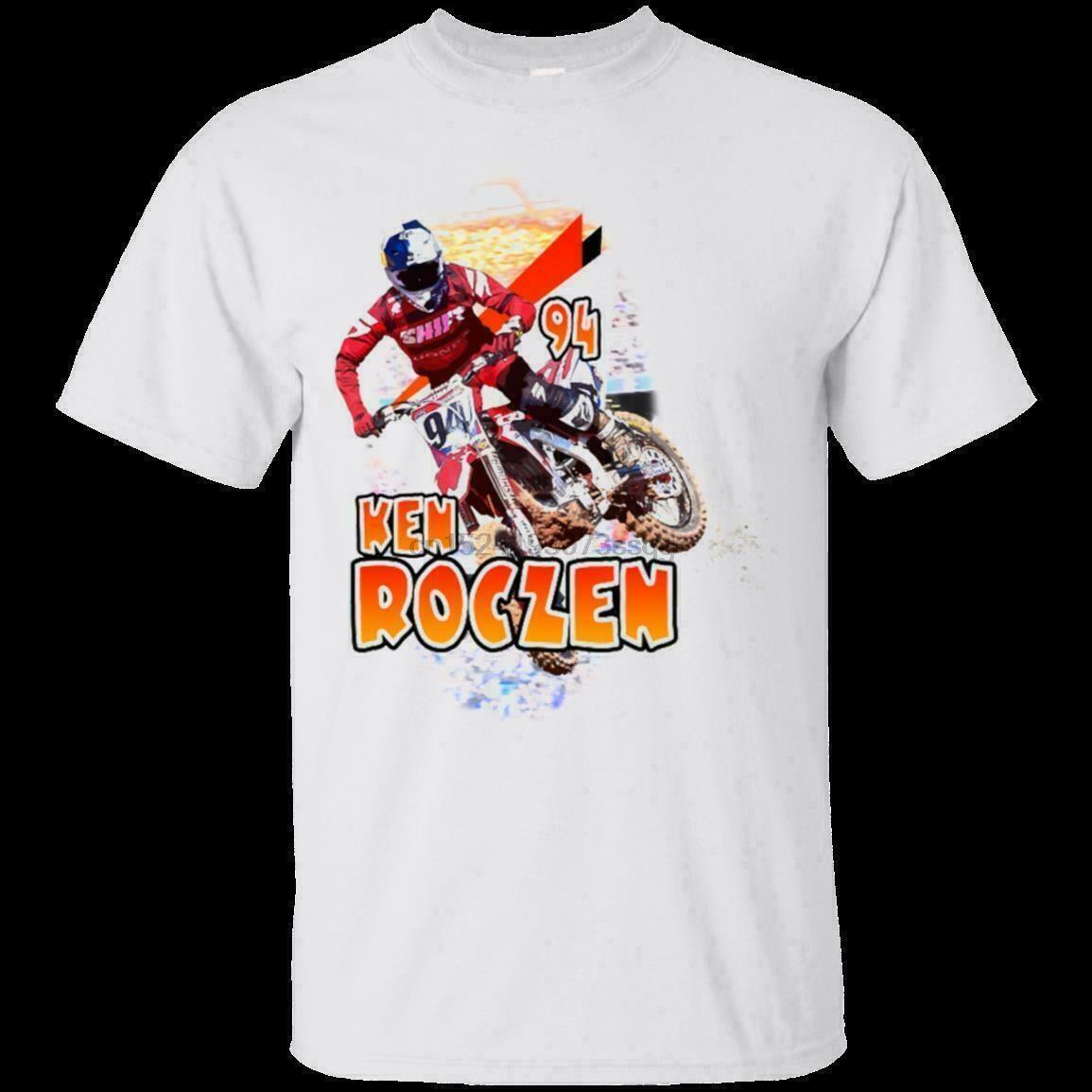 La camiseta blanca Ken Roczen 94 Tamaño de los hombres S-5XL