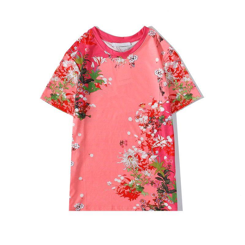 Greatchy Mens Designer T-shirt de lettre Hauts avant Mode motif fleur t-shirts tendance Hip Hop T-shirts Casual garçons Nouveau T pour l'été