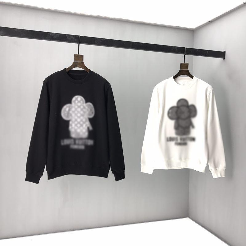 2020ss primavera e algodão novo alto grau de verão impressão de manga curta rodada painel pescoço t-shirt Tamanho: m-l-xl-XXL-XXXL Cor: cc47 preto branco