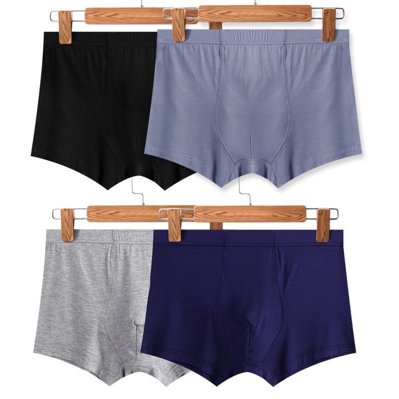 فاخر الجديدة ملابس داخلية رجالي الملاكم موجز السروال الشهيرة الصلبة مصمم اللون الكبار الشباب مثير الملاكم القطن الرجال القضيب BoxersMen يقصر
