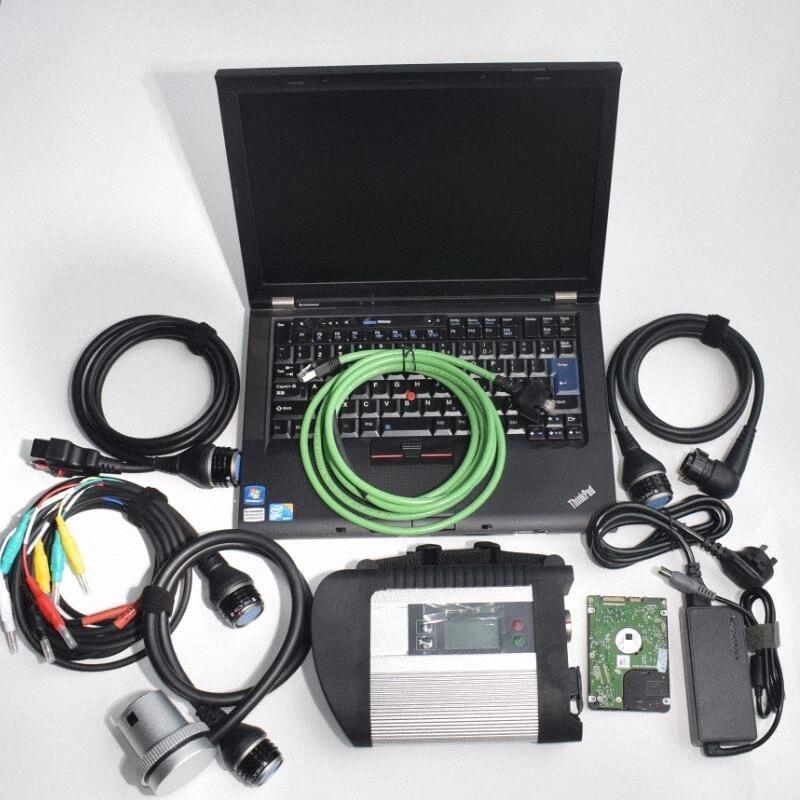 Auto ferramenta de diagnóstico Para Mb Estrela Sd C4 Com T410 Laptop usado Computer Cpu Instale Mb Estrela C4 Conecte Hdd 2020.03v Conjunto completo Obdii Diagn nEj5 #