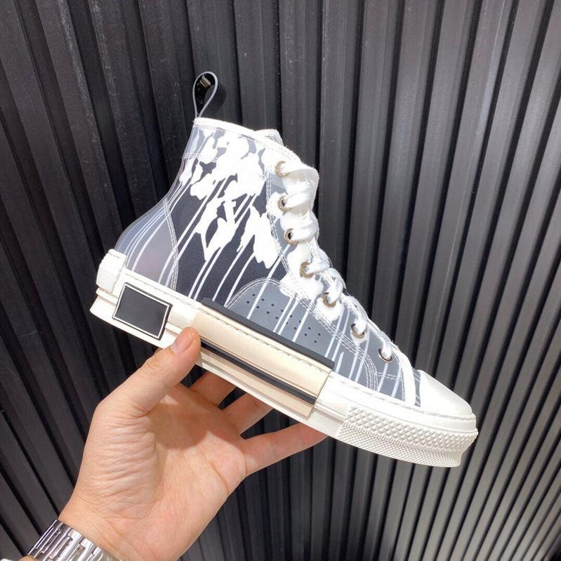 designer de 2020 Homens Mulheres Blue Hajime Sorayama dinossauro marinho Hi-top B23 sapatos de causalidade com sola de borracha preto branco
