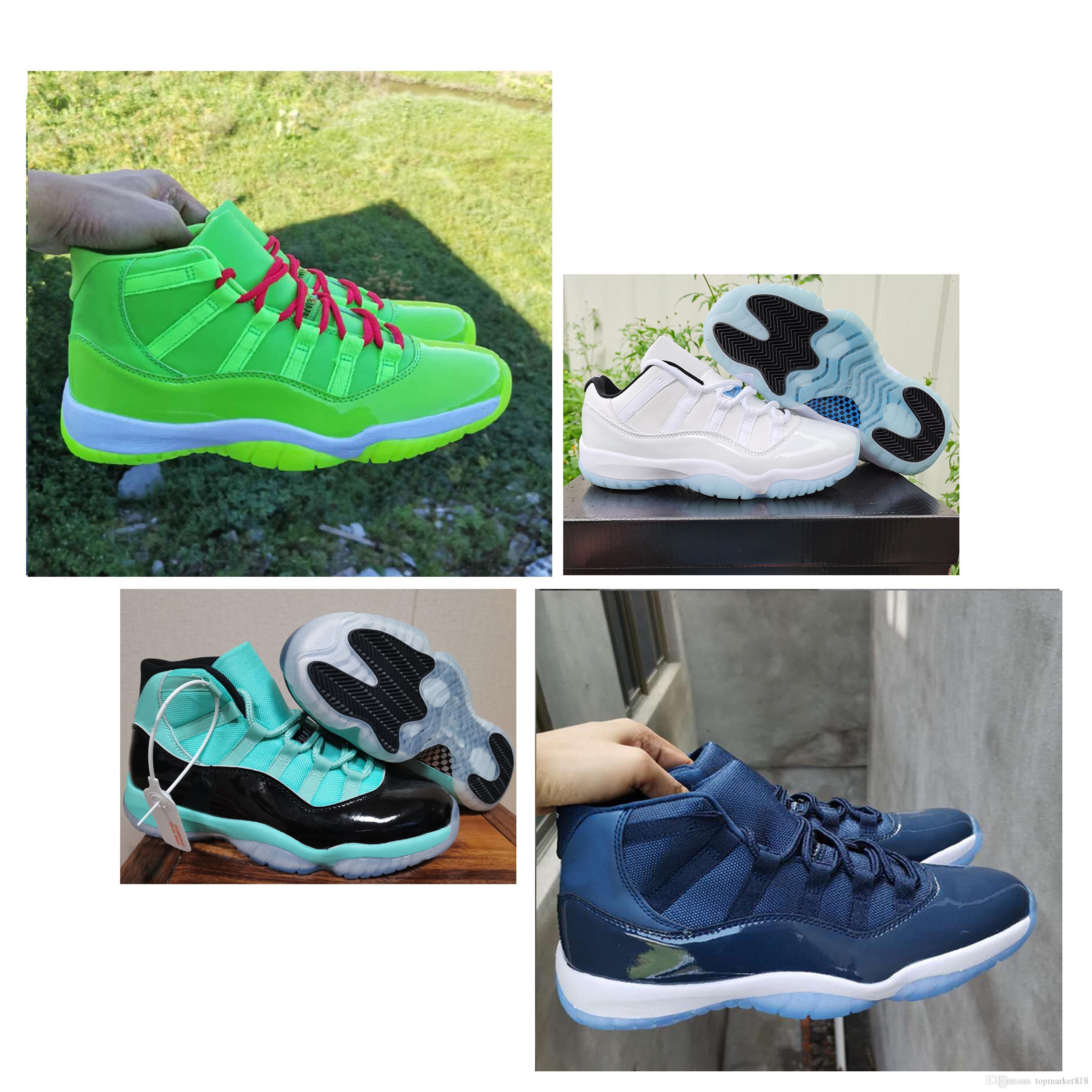 Bred 11 XI Serin Gri Basketbol Ayakkabı 24 Yüksek Concord 45 Space Jam Bred 11'leri Erkekler Sneakers Sport kutusu Ayakkabı Düşük Legend Mavi Koşu