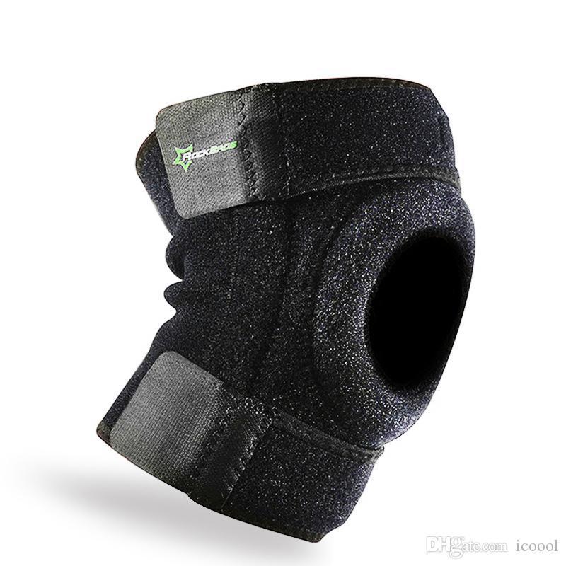 Ginocchio all'ingrosso Sport Elastic Protector Leg ginocchiere fasciatura del nastro escursionismo Jogging basketabll ginocchio di sostegno del gancio di sport Inginocchiare PARACADUTE