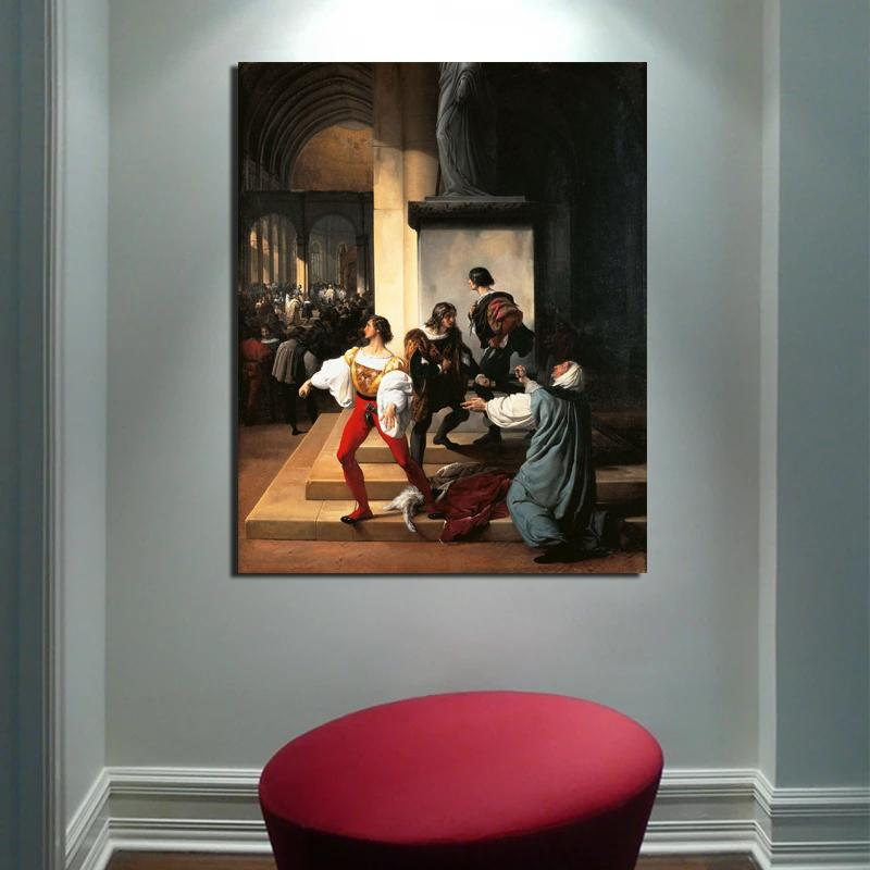 Modular Canvas HD Prints Francesco Hayez Wall Art Posters Classic Paintings Vintage Home Decor Pictures Living Room Framework