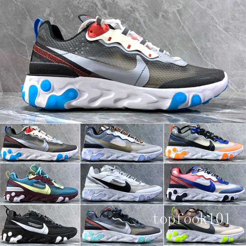 2019 Reagire Element 87 55 scarpe da corsa per gli uomini donne bianche nere Reale Tint Desert Sand Designers sport respirabili sneaker size 36-45 TPM9
