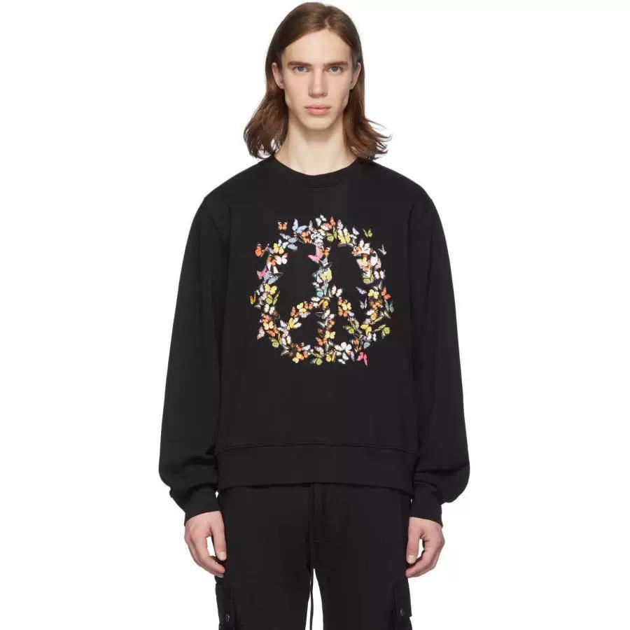 Mens Designer Hoodies Lettre mode Symbole papillon paix Sweat-shirt 2020 Nouvelle impression Pulls Hiphop Sreetwear Vêtements de haute qualité