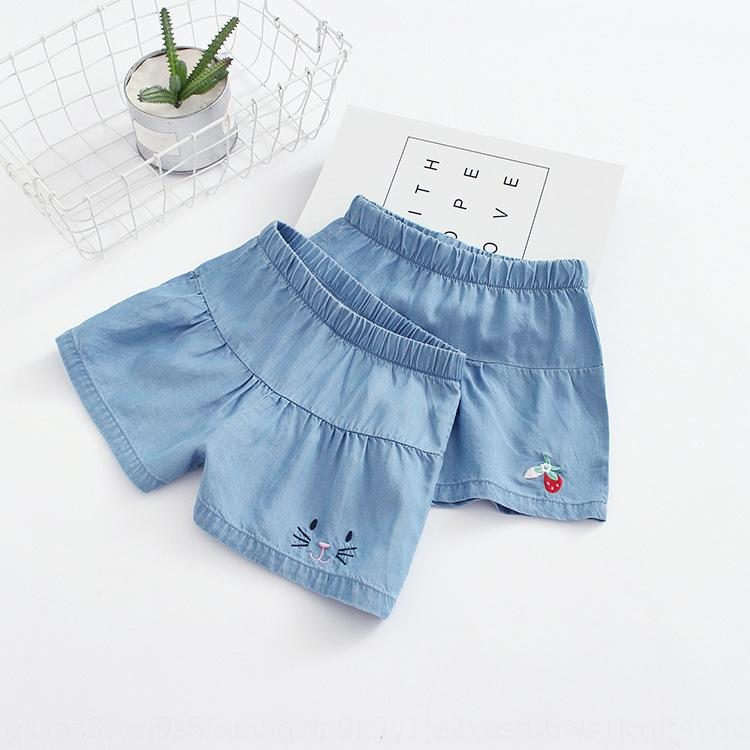 Optional size 2020 new girl embroidery cartoon strawberry Tencel skirt Strawberry shorts Embroidered shorts hot pants