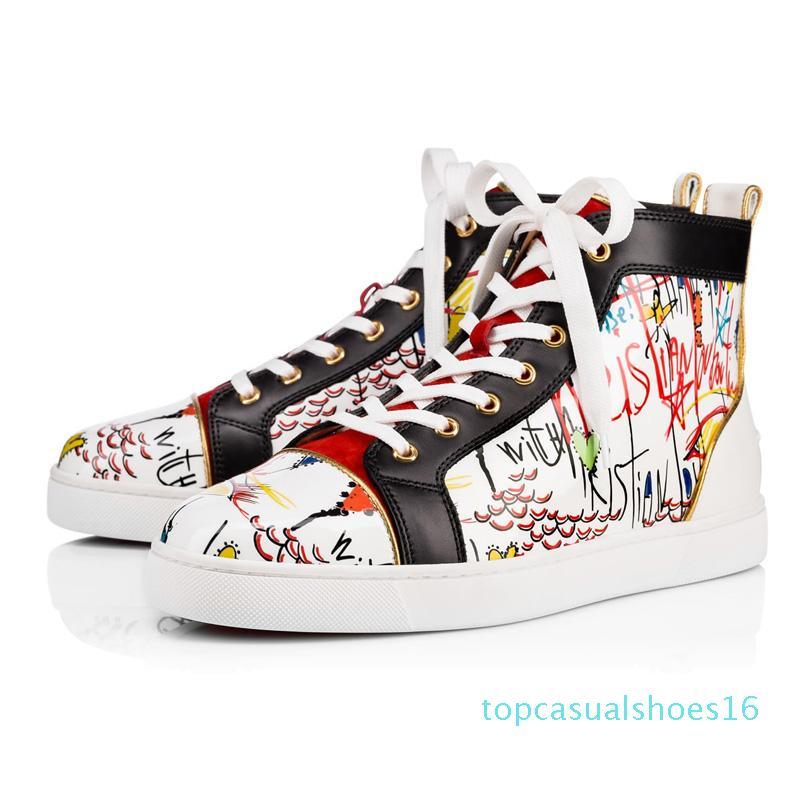 desenhador sapatos masculinos mulheres Studded Pico Sneakers Triplo Black Red White camurça fundos planos de calçados casuais 36-47 t16 do vintage