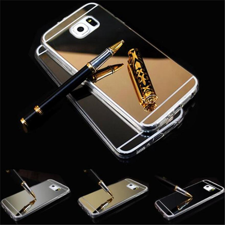 200pcs/lot Luxury Mirror TPU Electroplating Soft Clear Case For samsung Galaxy S8 S7 S6 EDGE Plus NOTE 8 7 5