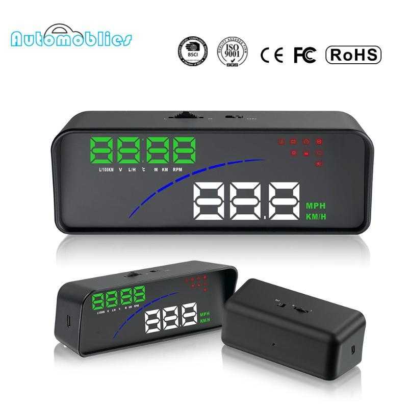 OBD2 HUD Head-Up OBD hud P9 Display Car-styling Display Overspeed Warning Windshield Projector Alarm System Universal Auto