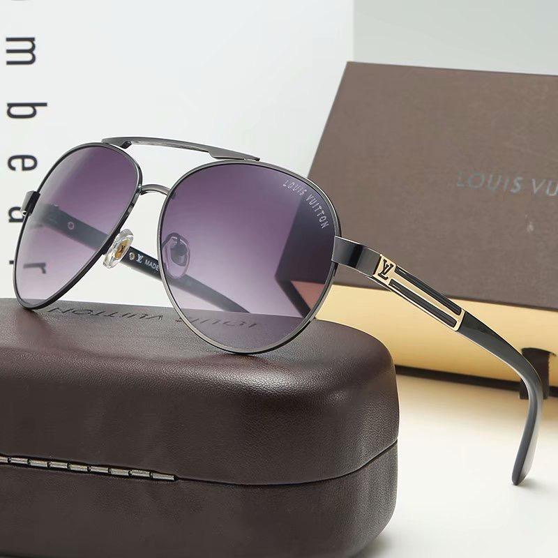 Venda Hot alta qualidade Homens Mulheres Sunglasses Txrppr Driving Óculos de sol Ouro Metal Frame verde UV400 58 milímetros Lens Vem Brown2020