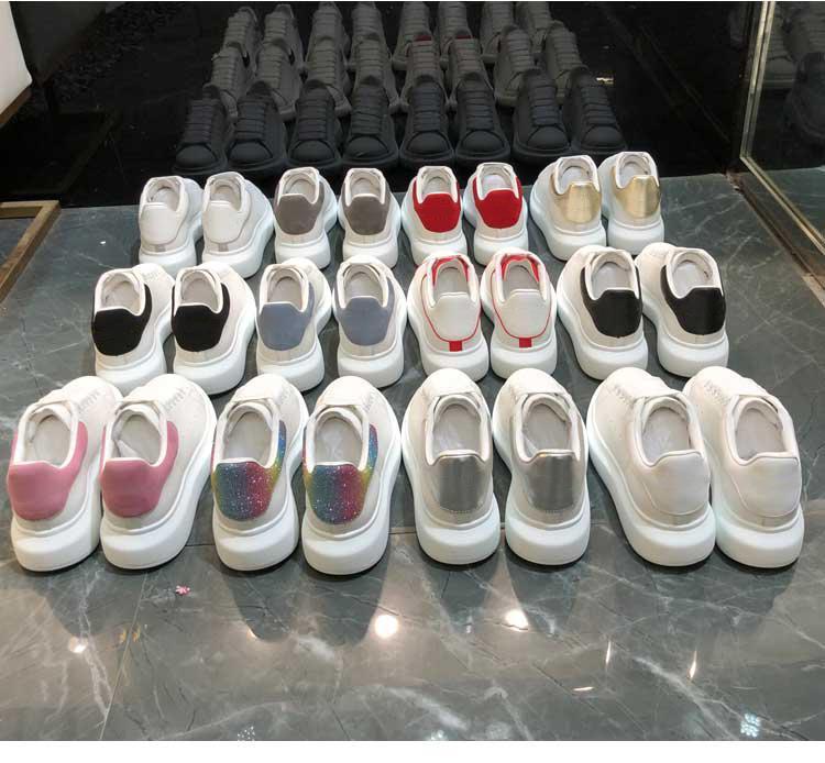 Nizza plat-forme schwarzem Samt weiß reflektierende Mehrfarben Mode Schuhe Silber Sequin Laser-Partei porm flache beiläufige Turnschuhe Männer Frauen Schuhe