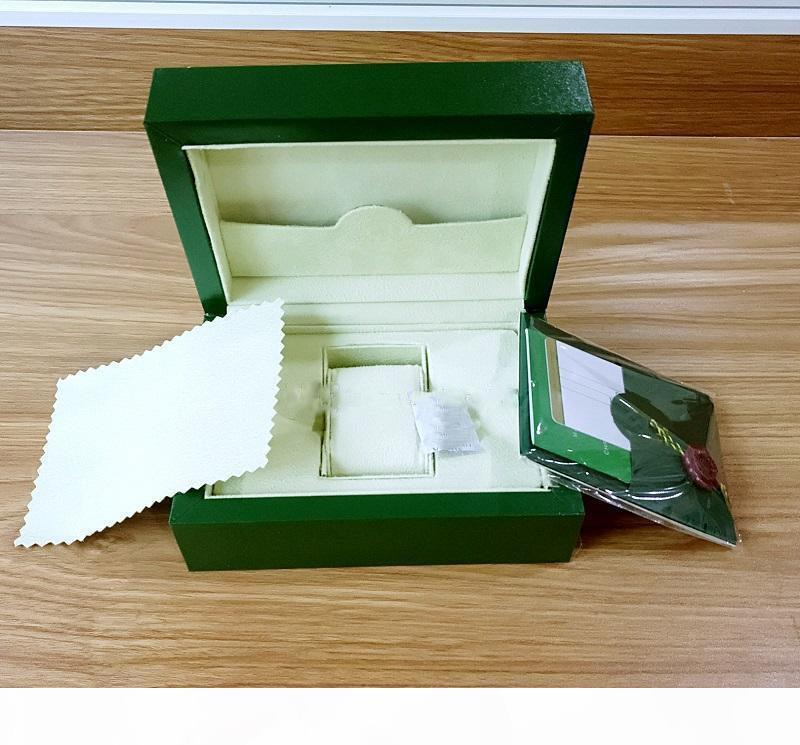 Бесплатная доставка Новый стиль Зеленый Часы Papers подарка Часы Боксы Кожаная сумка Card140mm * 85мм 0.8KG Для мужчин Часы Box.