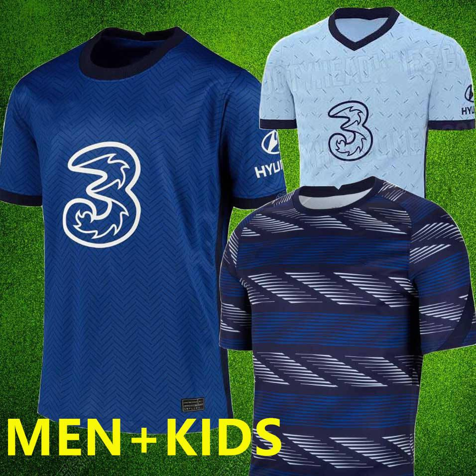 2020 2021 calcio Jersey casa lontano WERNER PULISIC KANTE ABRAHAM WILLIAN uniforme GIROUD ZIYECH Camiseta mens Stadio kit KIDS maglia di calcio