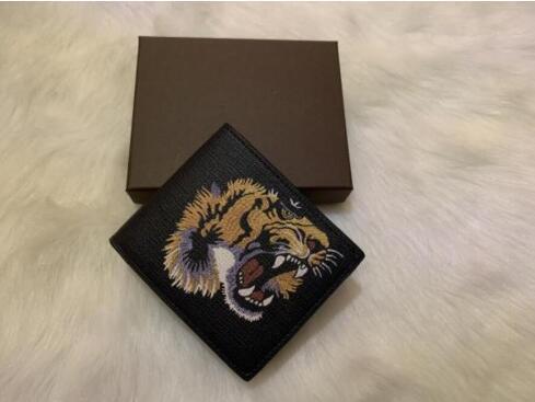 XX 2020 nuevos hombres de alta calidad de los animales Monedero corto de piel de serpiente tigre negro de abeja carteras mujer largos del estilo de los titulares de tarjetas monedero Monedero