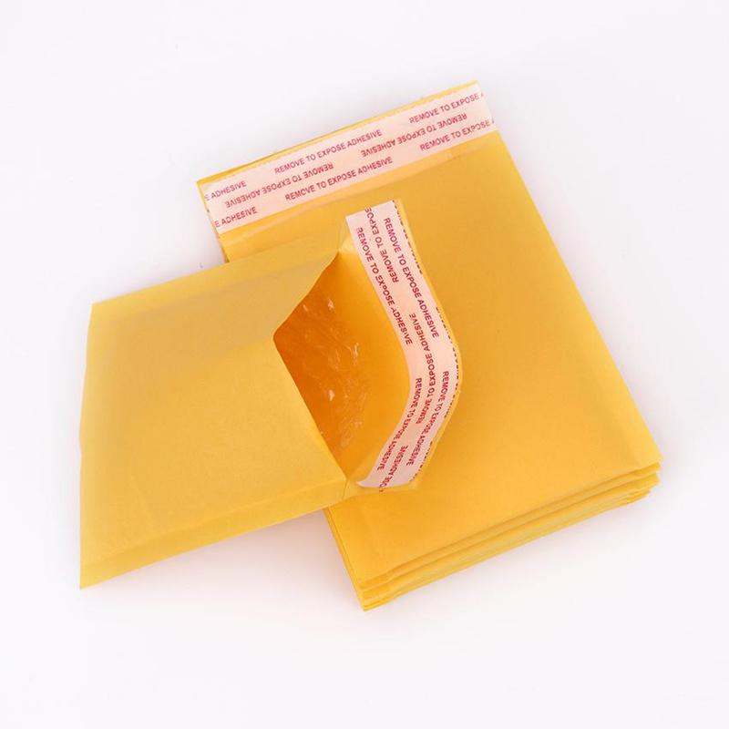 Vendita calda 110 * 130 millimetri Buste Bubble Bags bollettini riempiti carta kraft busta Spedizione Bubble Bag Mailing accessori Fragile