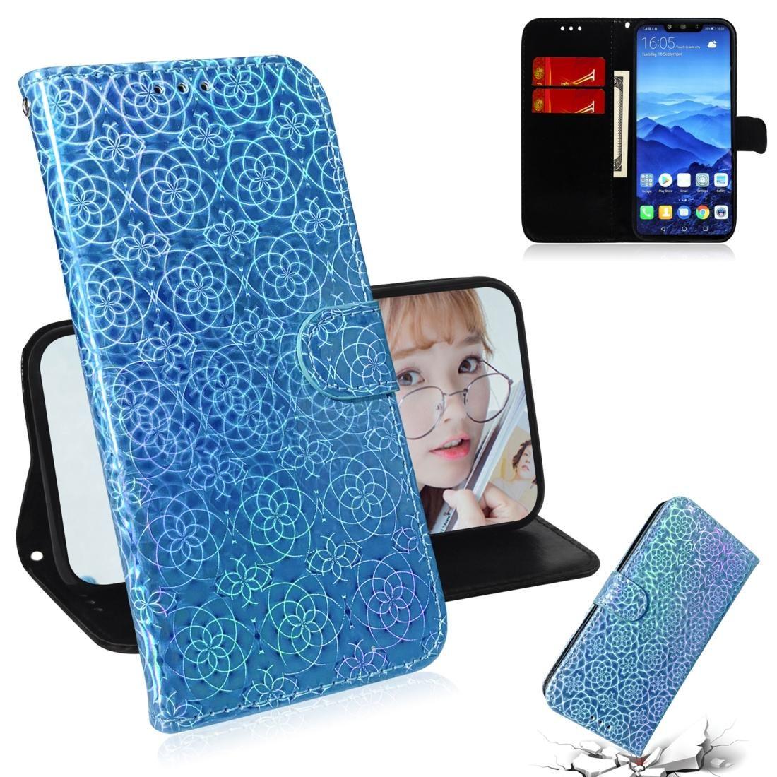 Für Huawei Mate-20 Lite Solid Color Bunte Magnetic Buckle Horizontal Flip PU-Leder-Kasten mit Halter-Karten-Slots Wallet Lanyard