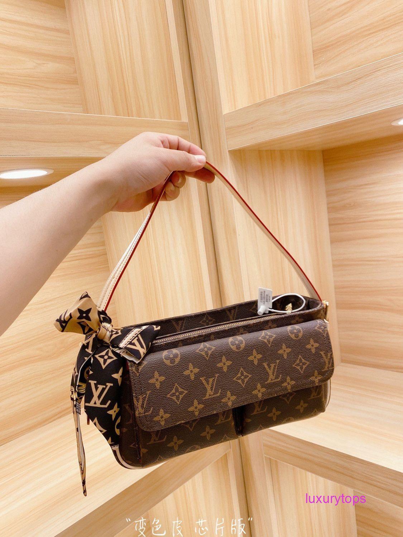 nuovo sacchetto di spalla di modo classico stampato borsa a tracolla ad alta capacità inclinata della lettera delle donne