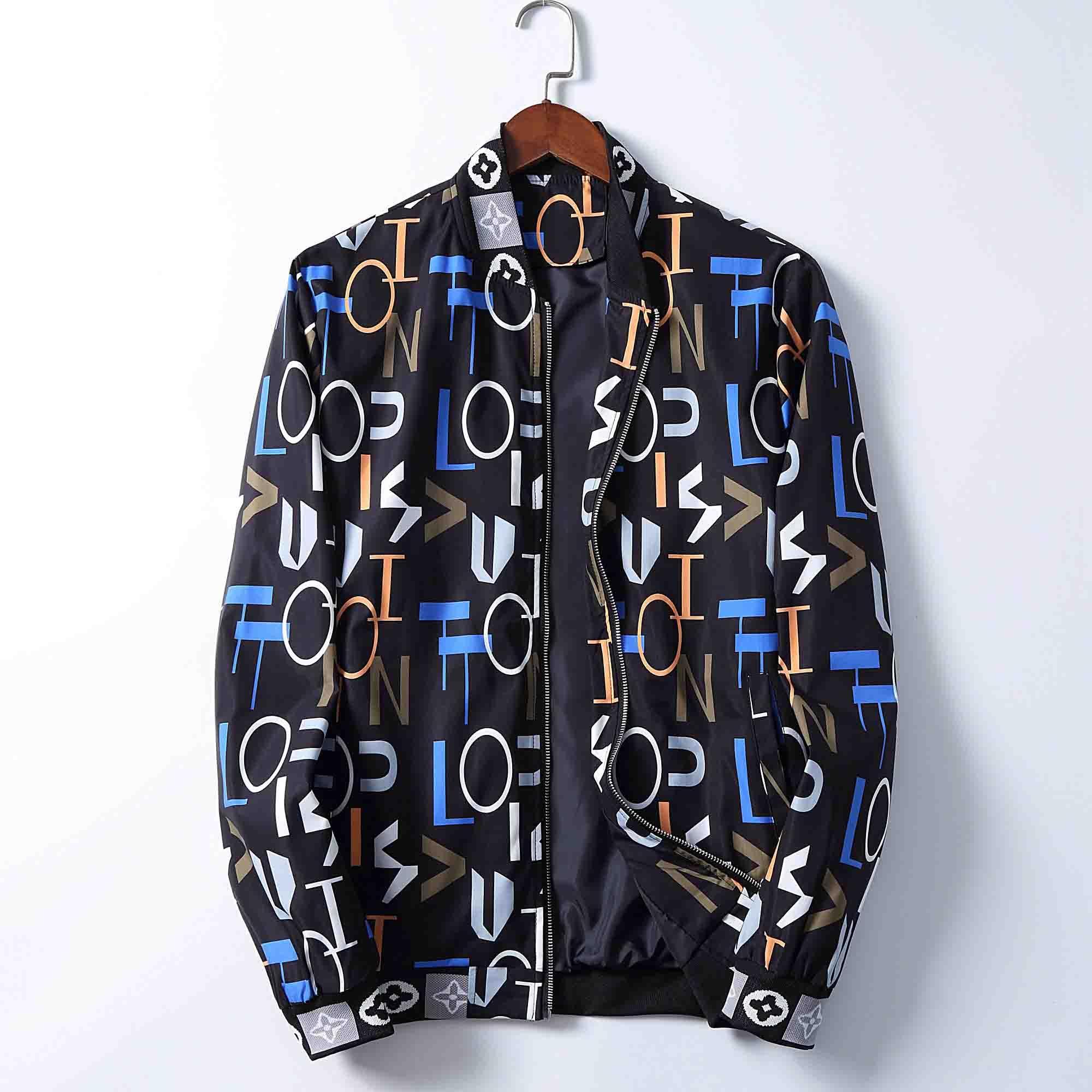 2020 caldo Mens Jackets autunno-inverno del rivestimento del cappotto di stampa della lettera di colore nera per gli uomini e le donne asiatiche formato M-3XL