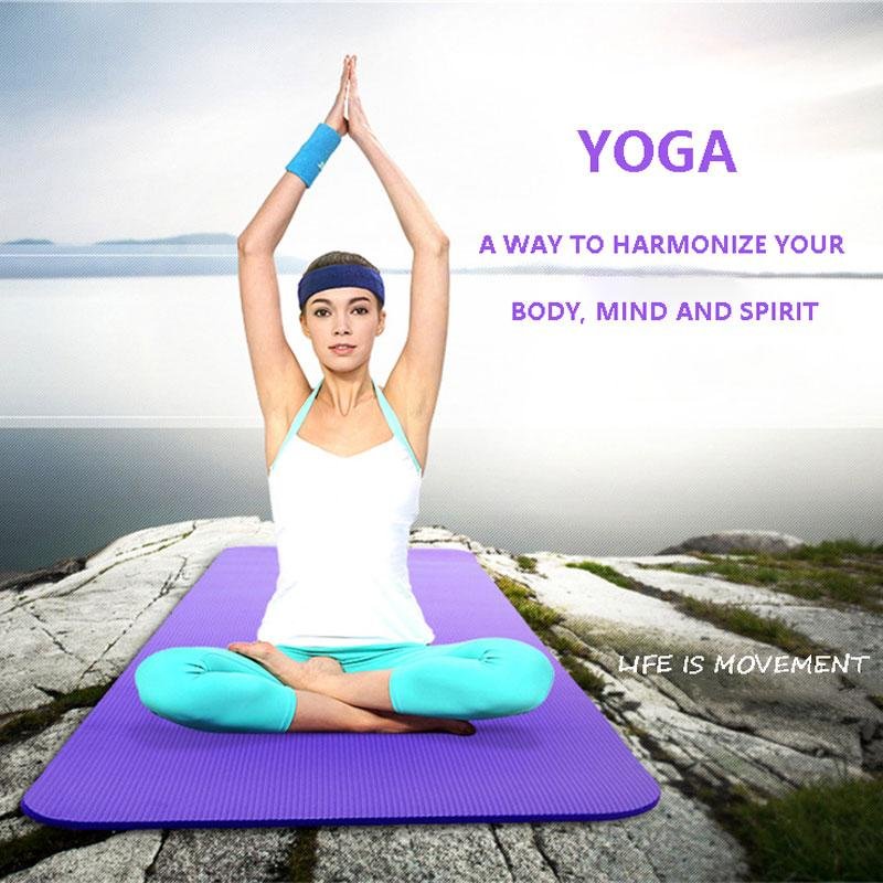 183 * 61 * 8 mm de espesor de EVA Comfort estera de la espuma de la yoga por ejercicio, yoga, Pilates y descansar y relajarse opciones múltiples una herramienta imprescindible para el hogar