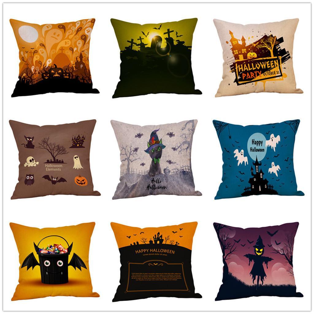 Fall Halloween Pillow Case Cushion Covers Linen Decorative Throw Pillows Pillowcases For Sofa Chair Seat Car Outdoor Pillowcase Green Pillow Cases Queen Pillowcases From Cccofficialstore 1 71 Dhgate Com