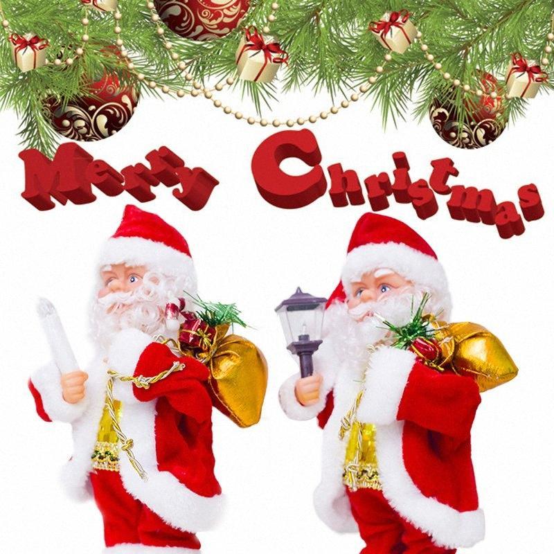 Танцующий Санта Клаус Игрушка Событие Рождество Пластиковые Электрические Санта-Клауса Праздничный сделать звук Дети подарков домашнего декора украшения 5laf #