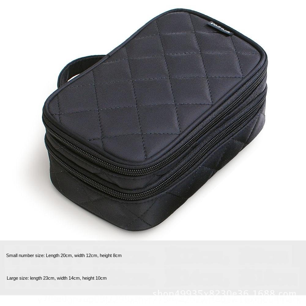 Grande doppio strato coreano cosmetici grande capacità di archiviazione portatile cosmetico impermeabile di archiviazione portatile sacchetto della lavata di corsa del sacchetto